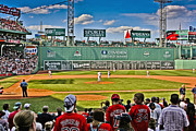 Red Sox Metal Prints - The Big Green Monster wall Metal Print by Dennis Coates