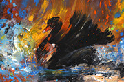 Swans... Drawings - The Black Swan by Miki De Goodaboom