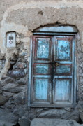 Weathered Houses Prints - The Blue Door 1 Print by James Brunker