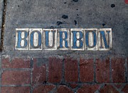 Daiquiri Prints - The Bourbon Street Sign Print by Joseph Baril