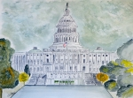 Washington Dc Drawings - The Capitol Hill by Eva Ason