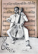 Jazz Band Pastels - The Celloist NOLA by Steve Ellenburg