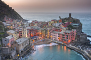 Cinque Terra Prints - The Cinque Terre - Vernazza Morning III Print by Rob Greebon