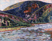Landscapes Paintings - The Creuse in Summertime by Jean Baptiste Armand Guillaumin
