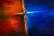 Healing Mixed Media Metal Prints - The Cross Metal Print by Shevon Johnson