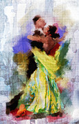 Ballroom Painting Posters - The Dance Poster by Robert Smith