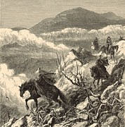 New Hampshire Drawings Posters - The Descent from Mount Washington Poster by Antique Engravings