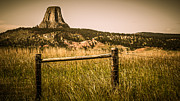 Wyoming Digital Art - The Devils Tower by Perry Webster