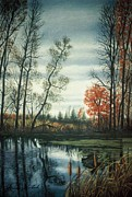 Contemporary Realism Pastels Posters - The Endangered Wetlands No. Two Poster by James Welch