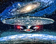 Enterprise Digital Art Prints - The Enterprise Print by Joe Misrasi