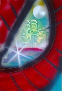 Spray Paintings - The Eye Of Spiderman by Gianluca Cremonesi