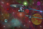 Enterprise Metal Prints - The Final Frontier Metal Print by Michael Rucker