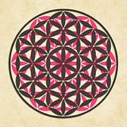 Flower Of Life Posters - The Flower of Life 1 Poster by Jazzberry Blue