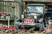 Ford Model T Car Photo Framed Prints - The Garage Sale Framed Print by JC Findley