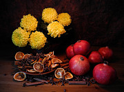 Sliced Originals - The golden Autumn flowers by Peer Doerrer