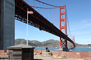 Wingsdomain Art and Photography - The Golden Gate Bridge at Fort Point...