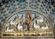 Youthful Posters - The Good Shepherd. 5th C. Italy Poster by Everett