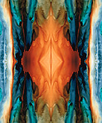 Burnt-orange Prints - The Great Spirit - Abstract Art By Sharon Cummings Print by Sharon Cummings