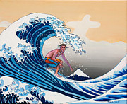 Dominique Amendola Prints - The great wave Amadeus series Print by Dominique Amendola