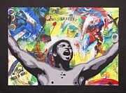 Cassius Clay Paintings - The Greatest by Sal Stewart