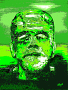 Noir Digital Art - The Green Monster by Alys Caviness-Gober