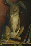 Metal Shelves Framed Prints - The Jack Rabbit Framed Print by Diane Strain