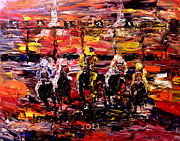 Kentucky Paintings - The Kentucky Derby 2013  And Theyre Off  by Mark Moore