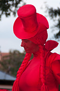 Statue Portrait Originals - The Lady In Red by Mark Kosinski