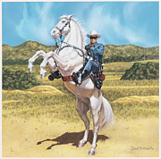 Cowboys Prints - The Lone Ranger Print by Dick Bobnick