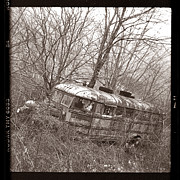 Rural School Bus Photos - The Magic School Bus gone terribly wrong by Martin Seelig