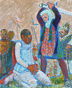 Beheading Paintings - The Martydom of St Maurice by Charles M Williams