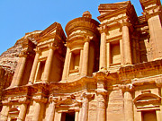 Jordan Digital Art Prints - The Monastery Built in Early 2nd Century in Petra-Jordan Print by Ruth Hager