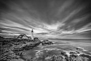 Seascape Greeting Cards Prints - The Motion of the Lighthouse Print by Jon Glaser