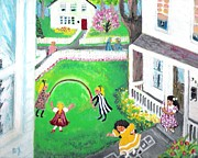 American Story Art Posters - The Neighbhor Girls Poster by Barbara LeMaster