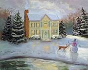 Snow Pastels - The Night Before Christmas by Linda Preece