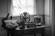 Mystic Setting Photos - The Old Table by the Window - Wonderful memories of the past - 19th Century table and window by Gary Heller