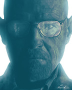 Portraiture Digital Art Metal Prints - The One Who Knocks Metal Print by Casey Callender