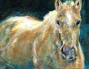 Abstract Horse Paintings - The Palomino by Frances Marino