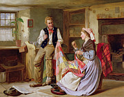 Talking Paintings - The Patchwork Quilt by William Henry Midwood