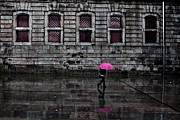 Portugal Metal Prints - The pink umbrella Metal Print by Jorge Maia