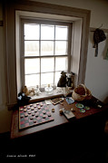 The Preacher House Vintage Checkers And Toys In Childs Room 1800s Fine Art Print by Artist and Photographer Laura Wrede