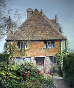 Famous Pastels Posters - The Priests House Sissinghurst Poster by Rosemary Colyer