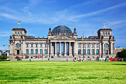 Berlin Germany Prints - The Reichstag building Berlin Germany Print by Michal Bednarek