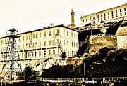 Alcatraz Prison Framed Prints - The Rock Framed Print by Benjamin Yeager