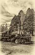 Wv Locomotive Photos - The Rocket sepia by Steve Harrington