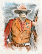 Shootist Prints - The Sheriff Print by Harry Speese