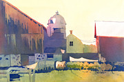 Rural Life Paintings - The Side of a Barn by Kris Parins