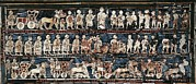 Iraq Prints - The Standard Of Ur. 2600 -2400 Bc. War Print by Everett