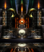 Fantasy Art Posters - The Throne Room Poster by Rolando Burbon