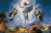 Dazzling Framed Prints - The Transfiguration Framed Print by Giulio Romano
